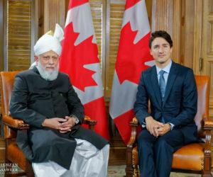O Primeiro-Ministro do Canadá recebe o Califa da Comunidade Islâmica Ahmadia em Otava